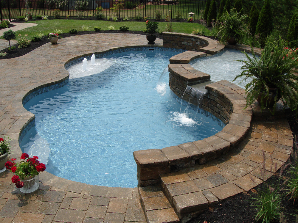 Water Features Perfectly Complement A Modern Geometric
